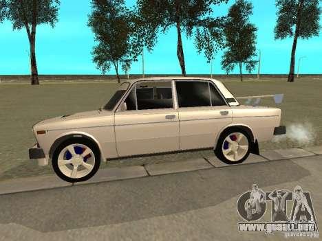 Estilo del oeste 2106 VAZ para GTA San Andreas vista posterior izquierda