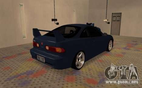 Acura Integra Type R 2000 para GTA San Andreas vista posterior izquierda