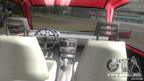 Fiat Uno Turbo para GTA Vice City visión correcta