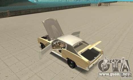 Chevy Monte Carlo [F&F3] para visión interna GTA San Andreas