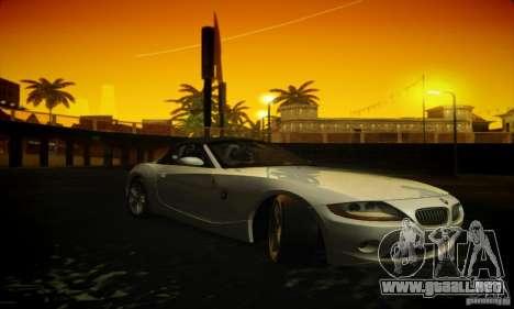 BMW Z4 para GTA San Andreas vista hacia atrás