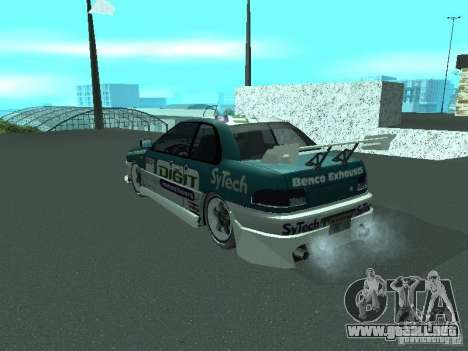 Subaru Impreza para vista inferior GTA San Andreas