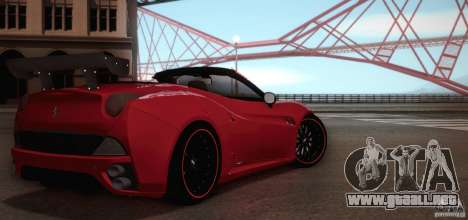 Ferrari California para la vista superior GTA San Andreas