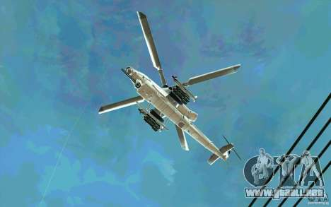 AH-1Z Viper para GTA San Andreas vista hacia atrás
