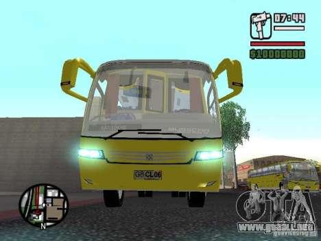 Busscar Vissta Bus para visión interna GTA San Andreas