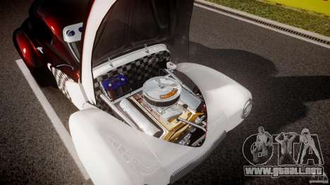 Willys Americar 1941 para GTA 4 vista desde abajo