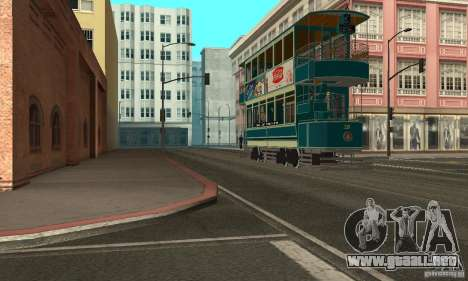Double Decker Tram para GTA San Andreas left