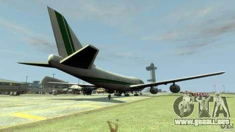 Alitalia para GTA 4 Vista posterior izquierda