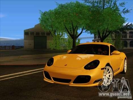 Porsche Cayman R 987 2011 V1.0 para GTA San Andreas vista posterior izquierda