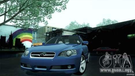 Subaru Legacy B4 3.0R specB para GTA San Andreas vista posterior izquierda