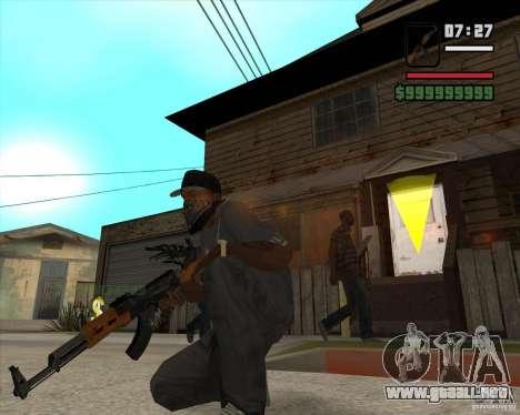 AK 47 de Xenus 2 para GTA San Andreas segunda pantalla