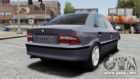 Iran Khodro Samand LX para GTA 4 Vista posterior izquierda