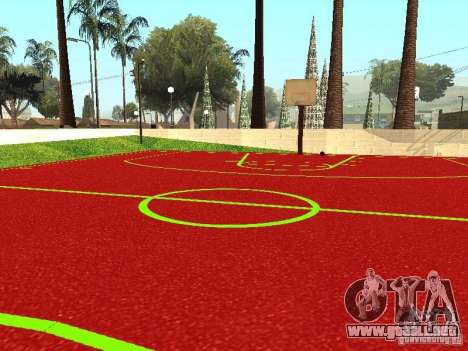 Cancha de baloncesto para GTA San Andreas tercera pantalla