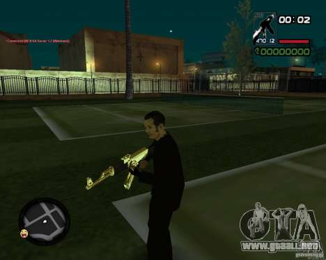 AK-47 Gold para GTA San Andreas segunda pantalla