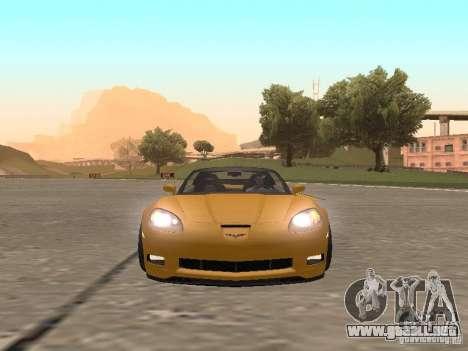 Chevrolet Corvette Z06 para GTA San Andreas vista hacia atrás