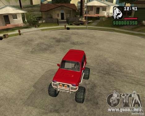 VAZ-21213 4x4 Monster para vista lateral GTA San Andreas