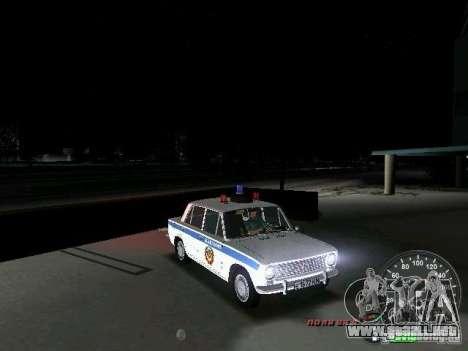 VAZ 2101 policía para GTA Vice City vista lateral