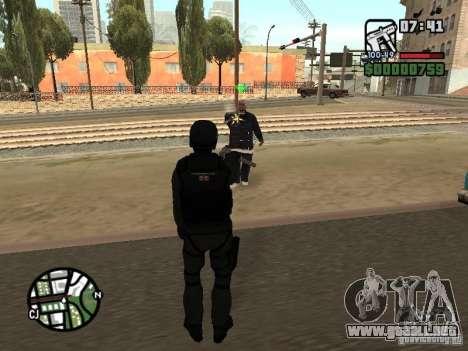Umbrella soldier para GTA San Andreas quinta pantalla