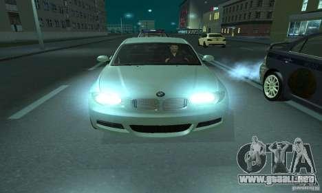 BMW 135i Coupé para GTA San Andreas vista hacia atrás