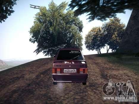 Ваз 2114 neumo para GTA San Andreas vista posterior izquierda