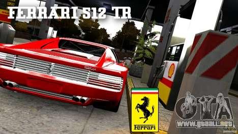 Ferrari 512 TR BBS para GTA 4 Vista posterior izquierda
