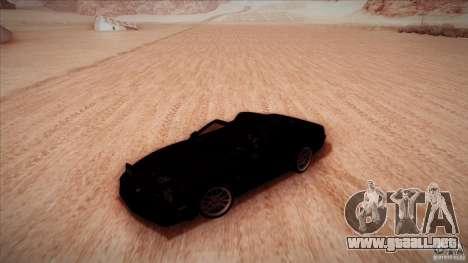 Pontiac Firebird Trans Am para visión interna GTA San Andreas
