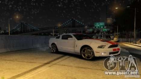 Ford Shelby Mustang GT500 2011 v2.0 para GTA 4 ruedas