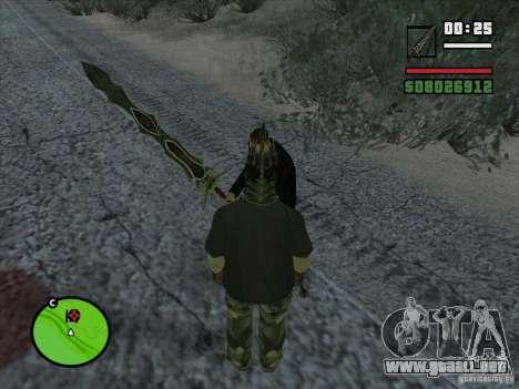 Garra Beliara para GTA San Andreas segunda pantalla