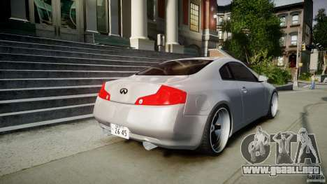 Infiniti G35 Coupe 2003 JDM Tune para GTA 4 vista superior