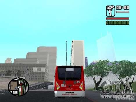 Caio Millennium TroleBus para GTA San Andreas vista posterior izquierda