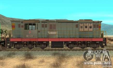 Locomotora ChME3-4287 para GTA San Andreas vista posterior izquierda