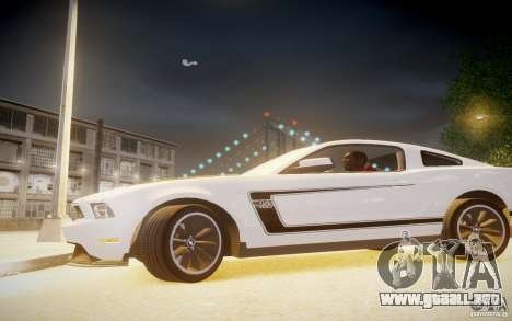 Ford Mustang 2012 Boss 302 v1.0 para GTA 4 left