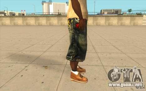 The BIG Makaveli Short Jeans para GTA San Andreas sucesivamente de pantalla