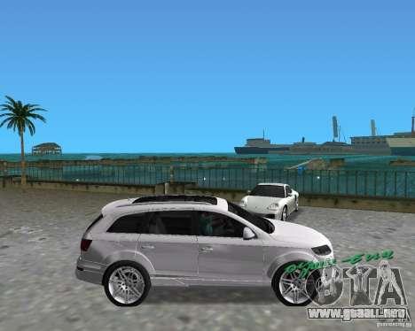 Audi Q7 v12 para GTA Vice City visión correcta