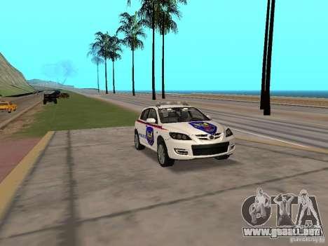 Mazda 3 Police para la visión correcta GTA San Andreas