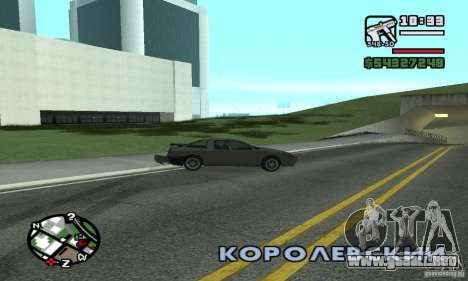 Deriva-Drift para GTA San Andreas segunda pantalla