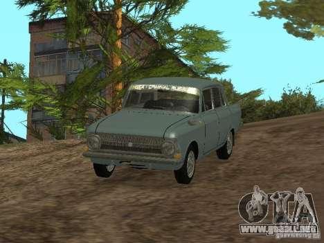 IZH 412 Moskvich para la visión correcta GTA San Andreas