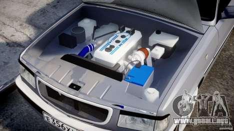 GAZ-3110 Turbo WRX STI v1.0 para GTA 4 vista desde abajo