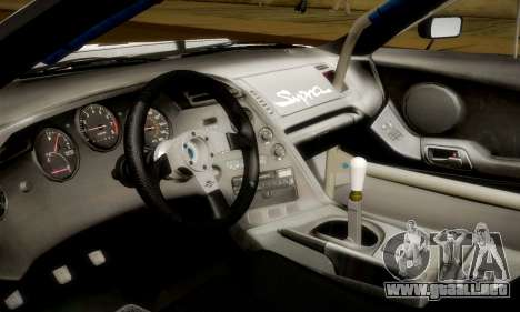 Toyota Supra JZA80 RZ Dragster para la vista superior GTA San Andreas