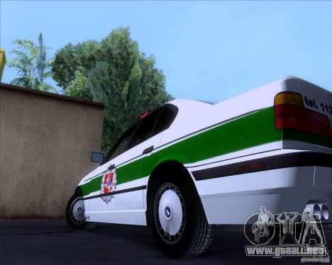 BMW E34 Policija para visión interna GTA San Andreas