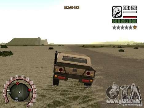 Además de la moda cine Radio para GTA San Andreas tercera pantalla