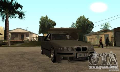 BMW E39 M5 Sedan para GTA San Andreas vista hacia atrás