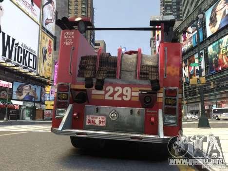 Fire Truck FDNY para GTA 4 visión correcta