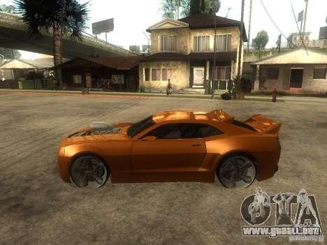 Chevrolet Camaro SS Dark Custom Tuning para GTA San Andreas left