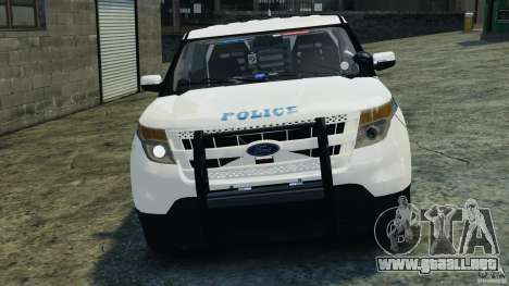 Ford Explorer NYPD ESU 2013 [ELS] para GTA 4 vista lateral