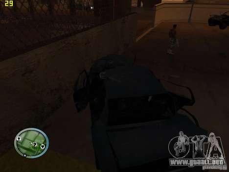 Autos rotas en la calle Grove para GTA San Andreas sexta pantalla