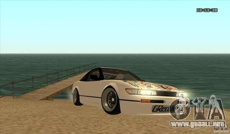 Nissan Sil180 JDM para GTA San Andreas vista posterior izquierda