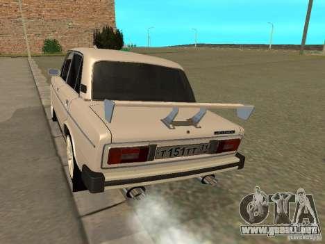 Estilo del oeste 2106 VAZ para la visión correcta GTA San Andreas