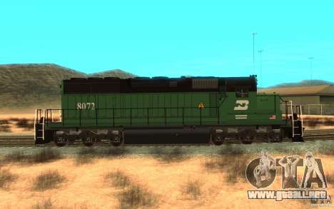 Locomotora SD 40 Burlington Northern 8072 para GTA San Andreas left
