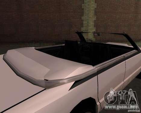 Taxi Cabriolet para vista lateral GTA San Andreas